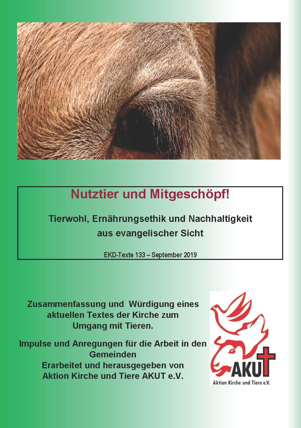 """Titelseite """"Nutztier und Mitgeschöpf!"""